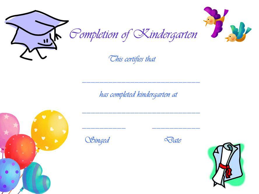 Preschool+Graduation+Certificates+Free+Printables regarding Kindergarten Completion Certificate Templates