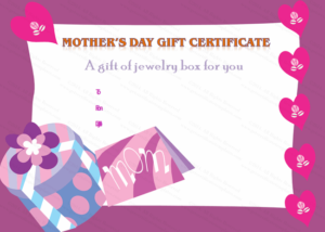 Present Box Mother'S Day Gift Certificate Template intended for Quality Mothers Day Gift Certificate Template