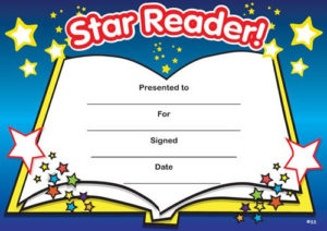 Print Accelerated Reading Certificate | Star Reader for Unique Accelerated Reader Certificate Template Free