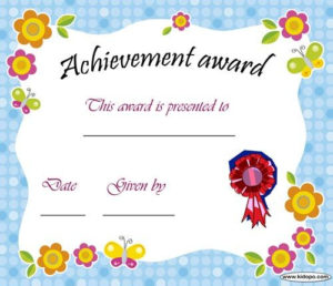 Printable Achievement Award Certificate | Certificate Of for New Daycare Diploma Template Free