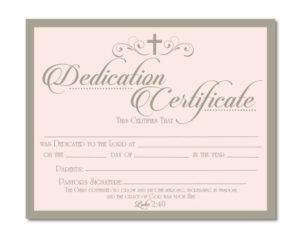 Printable Baby Dedication Certificate – Digital File – You with regard to Free Printable Baby Dedication Certificate Templates