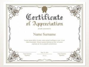 Printable Certificate Of Appreciation, Editable Certificate Template,  Printable Appreciation Certificate, Elegant, Instant Download intended for Editable Certificate Of Appreciation Templates