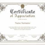 Printable Certificate Of Appreciation, Editable Certificate Template,  Printable Appreciation Certificate, Elegant, Instant Download Regarding New In Appreciation Certificate Templates