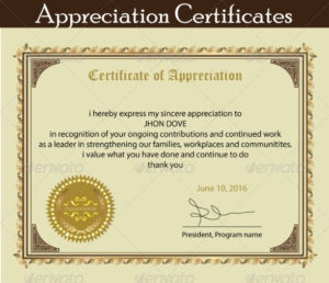 Printable Certificate Of Appreciation Template | Certificate regarding Unique Editable Certificate Of Appreciation Templates