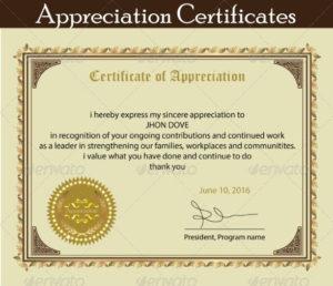 Printable Certificate Of Appreciation Template | Certificate with Certificate Of Appreciation Template Free Printable