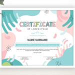 Printable Certificate Template Editable Certificate Template Intended For Handwriting Certificate Template 10 Catchy Designs