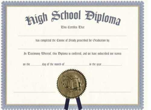 Printable Certificate Templates | High School Diploma, Free within Ged Certificate Template Download