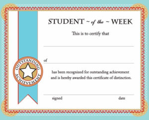 Printable Certificates & Awards   Calloway House   Student within Unique Student Of The Week Certificate