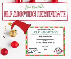 Printable Christmas Elf Adoption Certificate – Full Heart Mommy in Quality Elf Adoption Certificate Free Printable