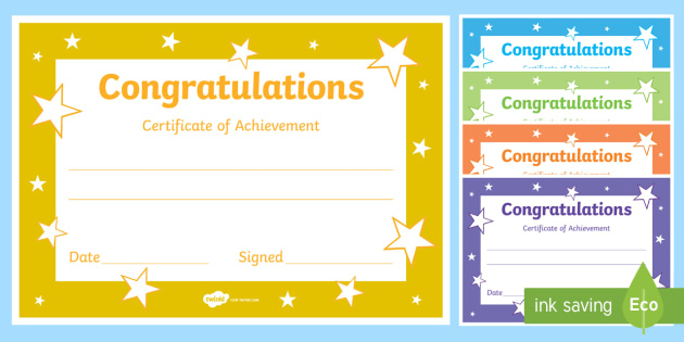 Printable Congratulations Certificate Template pertaining to Best Children'S Certificate Template