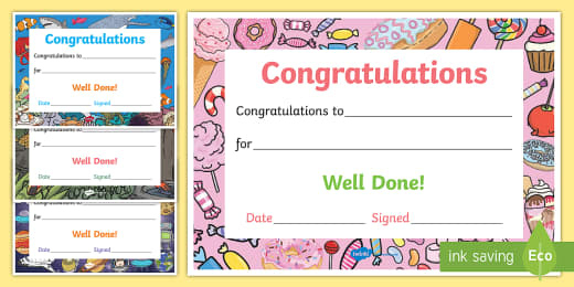 Printable Congratulations Certificate Template throughout Netball Certificate Templates Free 17 Concepts