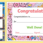 Printable Congratulations Certificate Template Throughout Unique Job Well Done Certificate Template 8 Funny Concepts