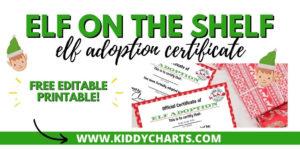 Printable Elf Adoption Certificate – Kiddycharts throughout Quality Elf Adoption Certificate Free Printable