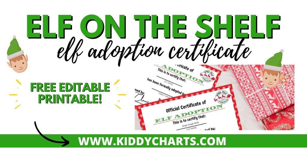 Printable Elf Adoption Certificate - Kiddycharts throughout Quality Elf Adoption Certificate Free Printable