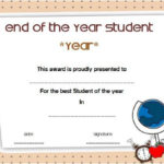 Printable End Of The Year Student Award Certificate | Awards Inside Quality Student Of The Year Award Certificate Templates