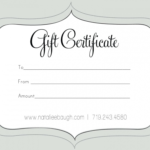 Printable Fillable Gift Certificate Template Custom for Custom Gift Certificate Template