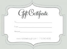 Printable Fillable Gift Certificate Template Custom with regard to Fillable Gift Certificate Template Free