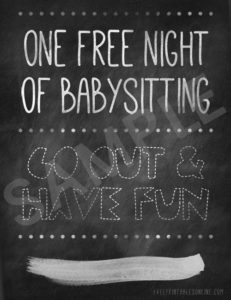 Printable Free Babysitting Voucher throughout Free Printable Babysitting Gift Certificate
