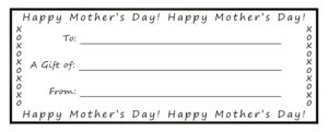 Printable Gift Certificates For Mom throughout Mothers Day Gift Certificate Templates