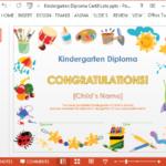 Printable Kindergarten Diploma Template For Powerpoint Regarding New Kindergarten Completion Certificate Templates