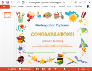 Printable Kindergarten Diploma Template For Powerpoint With Quality Kindergarten Certificate Of Completion Free