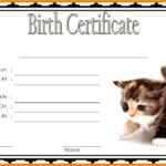 Printable Kitten Birth Certificate Free 1 | Cat Birth, Birth Inside Fresh Cat Adoption Certificate Template 9 Designs