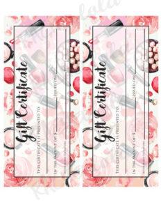 Printable Makeup Gift Certificate Template Mary Kay Avon for New Mary Kay Gift Certificate Template