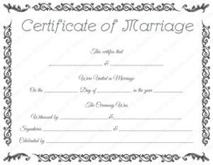 Printable Marriage Certificate Template – Dotxes | Marriage inside Best Blank Marriage Certificate Template