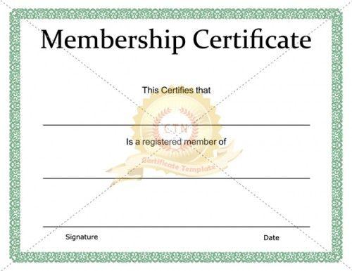 Printable Membership Certificate Template - Certificate in Fresh New Member Certificate Template