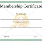 Printable Membership Certificate Template – Certificate Regarding Free 6 Printable Science Certificate Templates