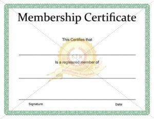 Printable Membership Certificate Template – Certificate regarding Free 6 Printable Science Certificate Templates