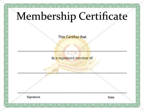 Printable Membership Certificate Template - Certificate regarding Free 6 Printable Science Certificate Templates