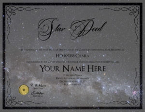 Printable Name A Star Certificate Template Koranstickenco In throughout Unique Star Naming Certificate Template