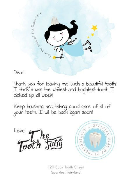 Printable Pdf Tooth Fairy Letter | Tooth Fairy Letter, Tooth intended for Tooth Fairy Certificate Template Free