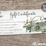 Printable Photography Gift Certificate Template, Spring pertaining to Fresh Photography Session Gift Certificate