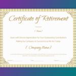 Printable Retirement Certificate For Teacher – Gct Pertaining To Free Retirement Certificate Templates For Word