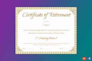 Printable Retirement Certificate For Teacher – Gct throughout Retirement Certificate Template