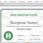 Printable Sports Certificate Template For Word With Sportsmanship Certificate Template