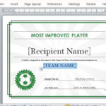 Printable Sports Certificate Template For Word With Unique Sports Award Certificate Template Word