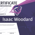 Printable Volleyball Certificate Of Participation Award In Best Volleyball Participation Certificate