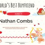 Printable Worlds Best Boyfriend Award Certificate Template Throughout New Best Boyfriend Certificate Template