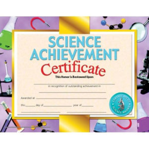 Printer-Compatible Certificates & Awards, Science within New Science Achievement Certificate Template Ideas
