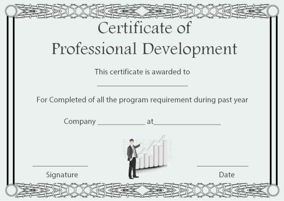 Professional Development Certificate Of Completion Template with regard to Unique Continuing Education Certificate Template