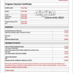 Progress Payment Certificate Template With Regard To Fresh Construction Payment Certificate Template