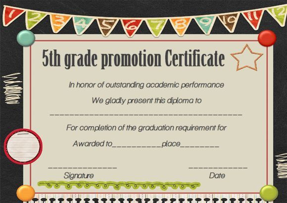 Promotion Certificate 5Th Grade - Google Search | Graduation inside Quality Grade Promotion Certificate Template Printable