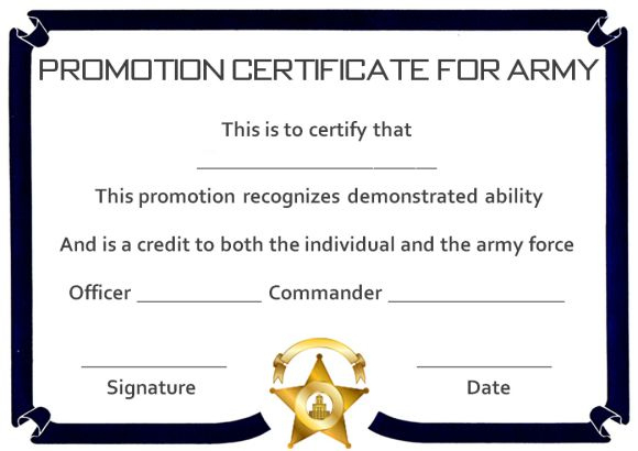 Promotion Certificate Template : 20+ Free Templates For for Job Promotion Certificate Template Free