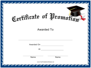 Promotion Certificate Template Download Printable Pdf within Promotion Certificate Template