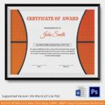 Psd | Free & Premium Templates | Basketball Awards, Awards In Basketball Certificate Template