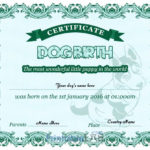 Puppy Birth Certificate Free Printable Sample In Onahau, Fun Inside Puppy Birth Certificate Template
