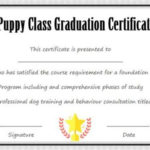 Puppy Class Graduation Certificate Template   Puppy Classes Intended For Best Dog Obedience Certificate Templates